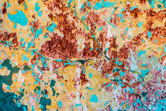 Old textured colorful wall with stains Stock Photos
