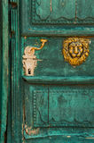 Old textured door Stock Images