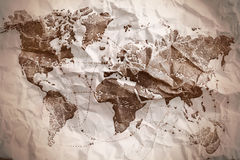 Old textured map Royalty Free Stock Image