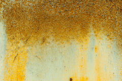 Old textured orange metal wall Stock Image