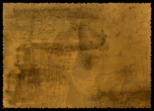 Old textured paper. With tattered edge with decoration Royalty Free Stock Photography