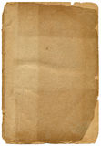 Old textured paper with decrepit edge. On white Royalty Free Stock Photo