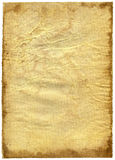 Old textured paper with decrepit edge. On white Royalty Free Stock Image