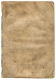 Old textured paper with decrepit edge (scan). Old textured paper with decrepit edge. On white Royalty Free Stock Photos