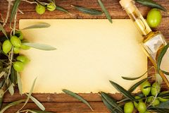 Olive oil background Royalty Free Stock Image