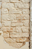 Old textured wall. Old peeling wall in derelict house Royalty Free Stock Images