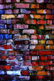 Old Textured Wall with Colorful Bricks Royalty Free Stock Images