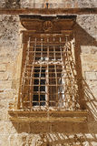 Old textured wall with window Royalty Free Stock Photo