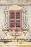 Old textured wall with window Royalty Free Stock Photography