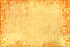 Old textured wallpaper with floral patterns Royalty Free Stock Photography