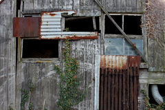 Old Textured Wood and corrugated iron Stock Photography