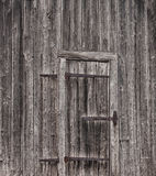 Old, textured wooden door Royalty Free Stock Photography