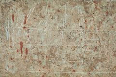 Old textures wall background with red paint stain. Perfect background with space.  royalty free stock images
