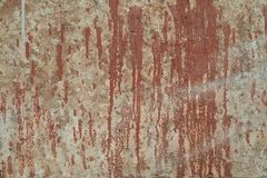 Old textures wall background with red paint stain. Perfect background with space.  stock photo