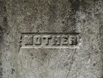Mother Inscription on a Grave Stone royalty free stock photo