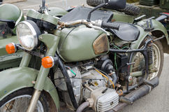 Old (60-70th) military motor bike Stock Photography
