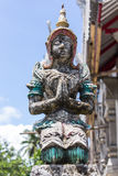 Old Thai angel statue Royalty Free Stock Image