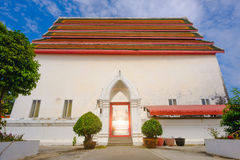 Old thai architecture of main ordination hall Stock Image