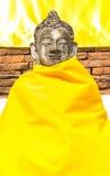 Old thai buddha statue Stock Photo