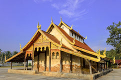Old Thai Buddhist Temple and Blue Sky Stock Images