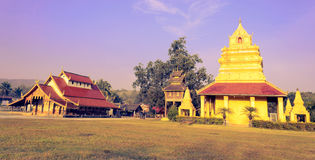 Old Thai Buddhist Temple and Pagoda Royalty Free Stock Photos