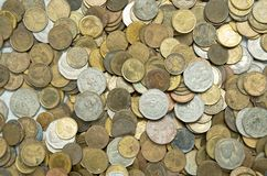 Old thai coins Royalty Free Stock Photography