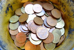 Old Thai Coins in Bowl. Stock Photography