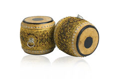 Old Thai drums antique musical instrument royalty free stock images