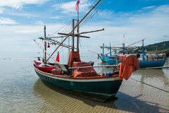 Old Thai fishing boat Stock Photo