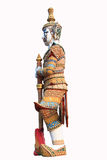 Old Thai giant sculpture on white background Royalty Free Stock Photo