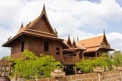 Old Thai house. Old Thai house home energy efficiency Stock Photos