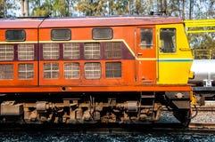 Old Thai public train at railway station Royalty Free Stock Photo