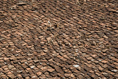 Old Thai Roof Tile Royalty Free Stock Photography