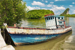 Old Thai Ship Royalty Free Stock Image