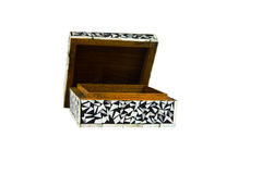 Old Thai style box. Old Thai style empty wooden box open Royalty Free Stock Photography