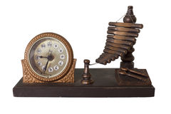 Old thai style clock Stock Image