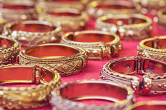 Old thai style handmade bangle in thailand Stock Images