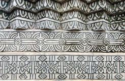 The old thai style stucco wall Stock Image