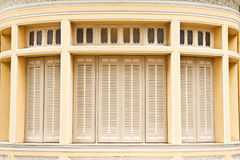 Old Thai style windows Royalty Free Stock Photography