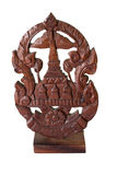 Old thai style wooden sculpture Royalty Free Stock Images