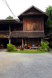 Old thai teak house stock photography