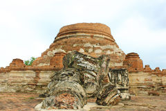 Old thai temple. Wat Maheyong at Ayutthaya, thailand Royalty Free Stock Photography