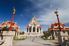 Old thai temple and nice blue sky Royalty Free Stock Image