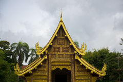 Old Thai temple style, Chiang mai, Thailand. Stock Photography