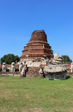 Old thai temple. Wat Thammikarat at Ayutthaya, thailand Royalty Free Stock Photo