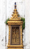 Old Thai Traditional Window in Temple Stock Image