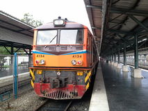 Old Thai train, Hadyai Railway Station,Thailand. Old Thai train, Hadyai Railway Station,Songkhla,Thailand Stock Photo