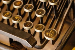 Old Thai Type Writer Stock Images
