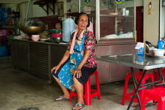 Old Thai Waitress Stock Images