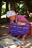 Old Thai Woman from Hmong Village near by Chiang Mai Royalty Free Stock Image